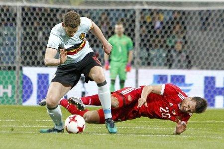 Сборная России сыграла со сборной Бельгии вничью в товарищеском матче