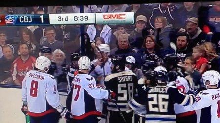 Александр Овечкин спровоцировал массовую драку в матче НХЛ «Вашингтон» - «Коламбус». ВИДЕО