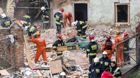 В Польше в Свебодзице 8 апреля обрушился каменный дом, погибли два ребенка и взрослый