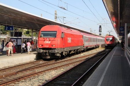 В Вене на вокзале Wien Meidling 15 апреля столкнулись два поезда, есть пострадавшие