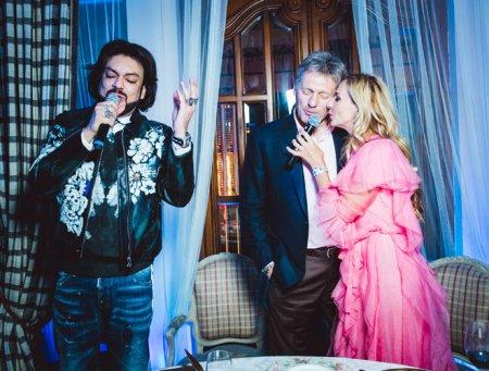 Дмитрий Песков спел с Филиппом Киркоровым на дне рождения Татьяны Навки