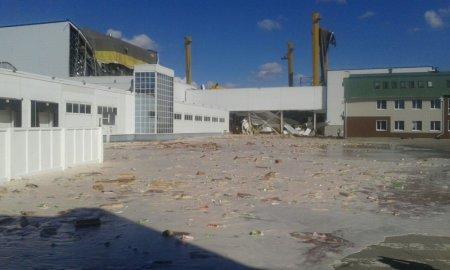 Под Липецком на складе завода Pepsico в Лебедяни 25 апреля обрушилась кровля, есть пострадавшие. ФОТО