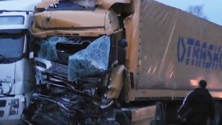 В Подмосковье на трассе М-1 «Беларусь» в Рузском районе 25 апреля произошло ДТП с четырьмя грузовиками, есть жертвы