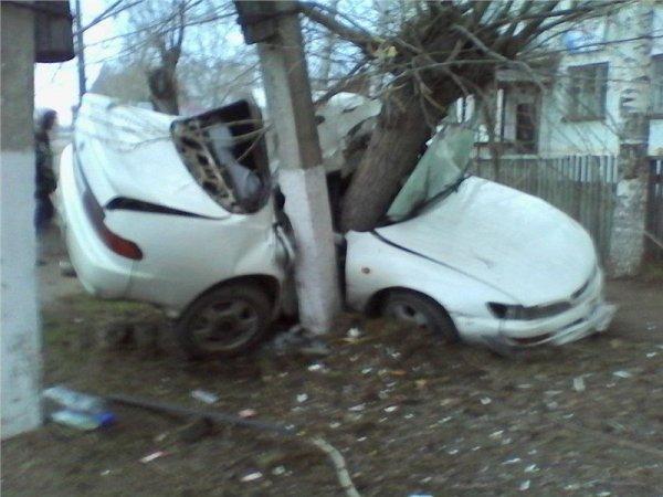 В Лесосибирске при столкновении с деревом погиб водитель