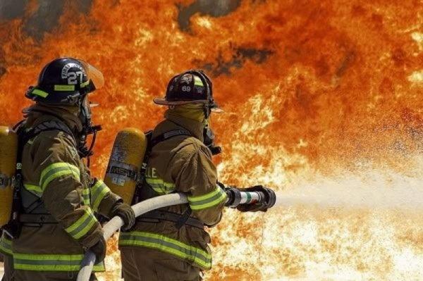В Благовещенске произошел пожар на заводе железобетонных изделий