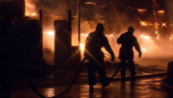 В Московской области был локализован крупный пожар на складе