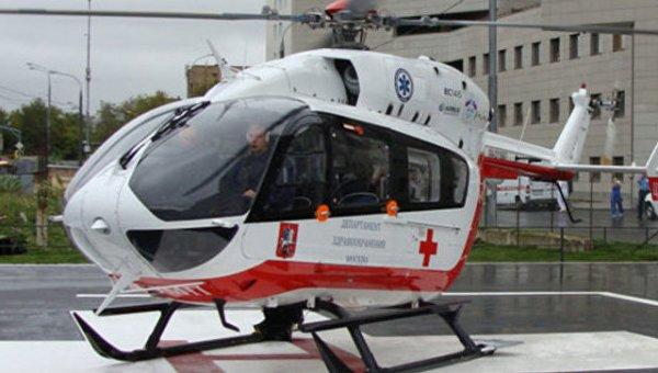 В Москве на вертолете эвакуировали пострадавшего в ДТП грудного ребенка