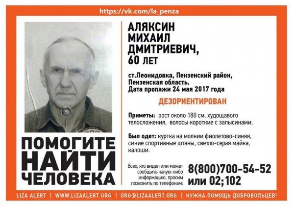 В Пензенской области пропал 60-летний мужчина