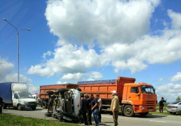 В Татарстане перевернулась машина «скорой» вместе с пациентом