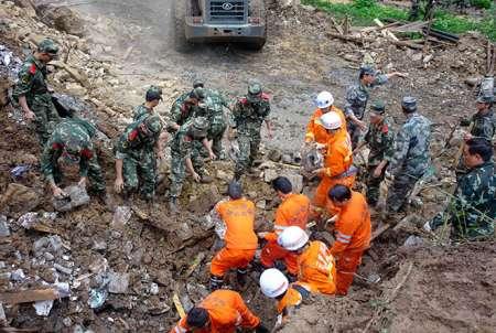В Китае после схода оползня свыше140 человек пропали без вести