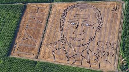 Итальянский фермер Дарио Гамбарин трактором и плугом создал в поле огромный портрет Путина. ФОТО, ВИДЕО