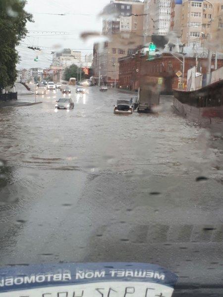 Жители Уфы выкладывают снимки затопившего город ливня