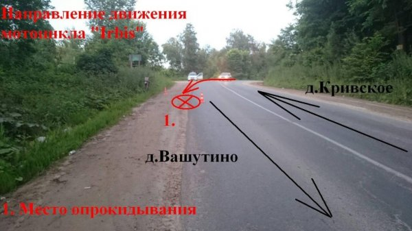В Калужской области 15-летний подросток разбился на мотоцикле