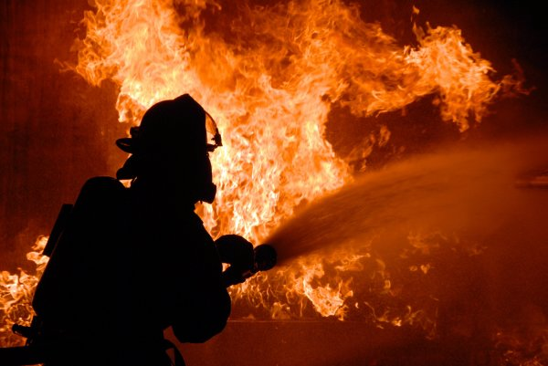 В Москве произошел пожар на Новом Арбате