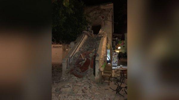 В районе острова Кос произошло мощное землетрясение