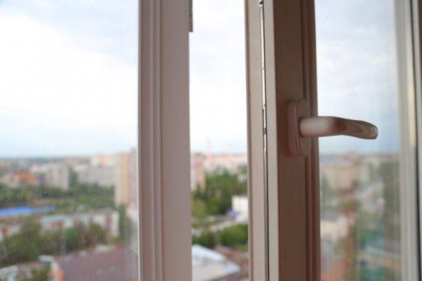 В Новой Москве жителей испугал вид повисшей на фасаде высотки девушки