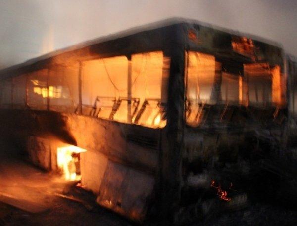 В Болгарии загорелся автобус с туристами из России