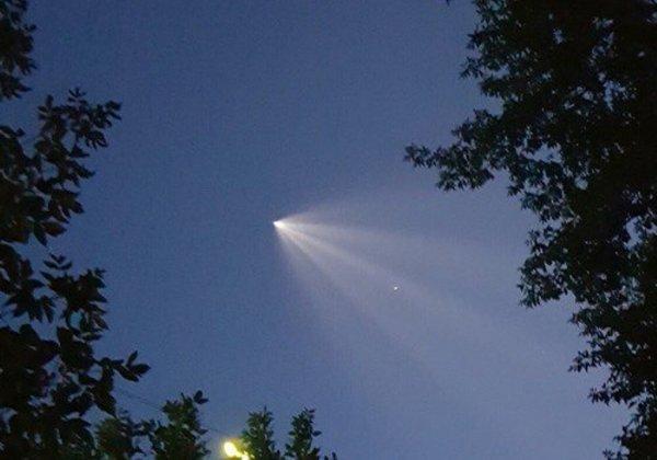 В Новосибирске местных жителей заинтриговал НЛО