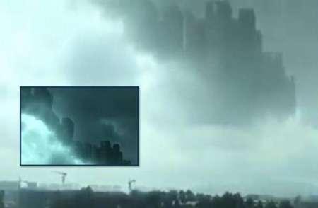 В небе над Китаем появился плывущий город-призрак. ВИДЕО, ФОТО