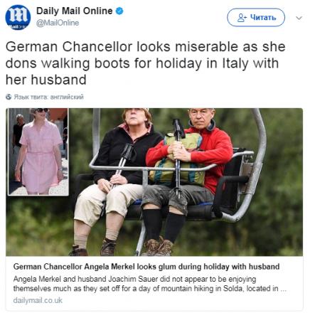 Фото несчастной Ангелы Меркель на отдыхе в Испании взорвало Сеть