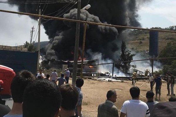 На асфальтобетонном заводе в Дагестане произошел взрыв