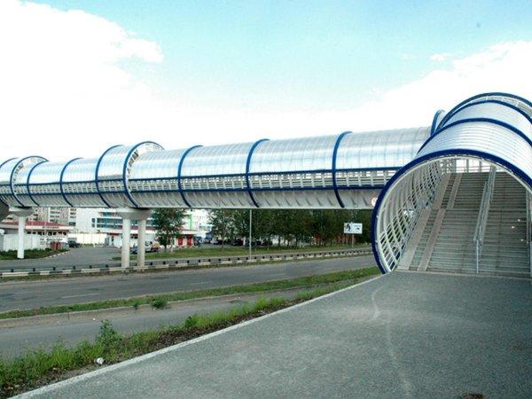 На трассе М-7 под Владимиром обрушился надземный пешеходный переход