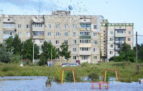 В Уссурийске паводок заставил местных властей ввести режим ЧС