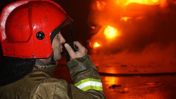 На Таганской площади в Москве загорелось двухэтажное здание