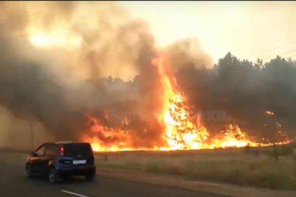 Крупный пожар в Ростовской области тушили более 15 часов