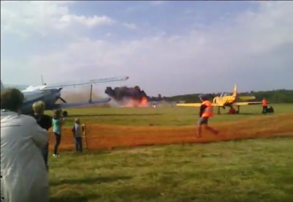 В Балашихе разбился Ан-2 во время показательного полета