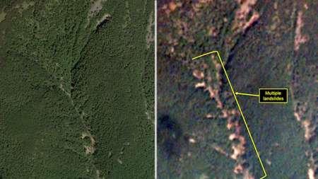 В Сети появились шокирующие фото зоны испытания водородной бомбы в КНДР, снятые со спутников