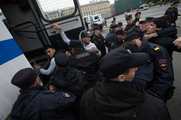 В Санкт-Петербурге задержали 130 мусульман за участие в незаконном митинге