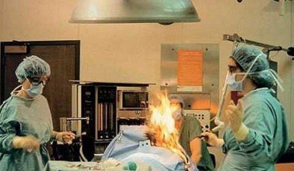 В Петербурге пациентка загорелась на операционном столе