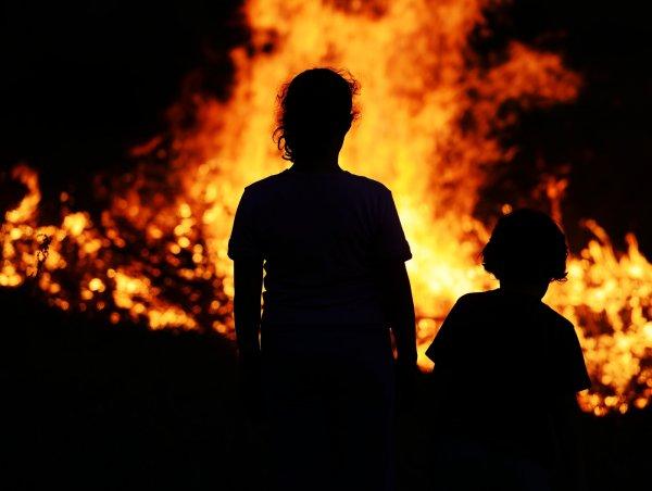 После пожара в детском лагере