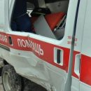 В центре Ростова карета «скорой» попала в ДТП