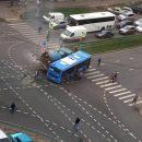 Автобус и бетономешалка столкнулись в Зеленограде