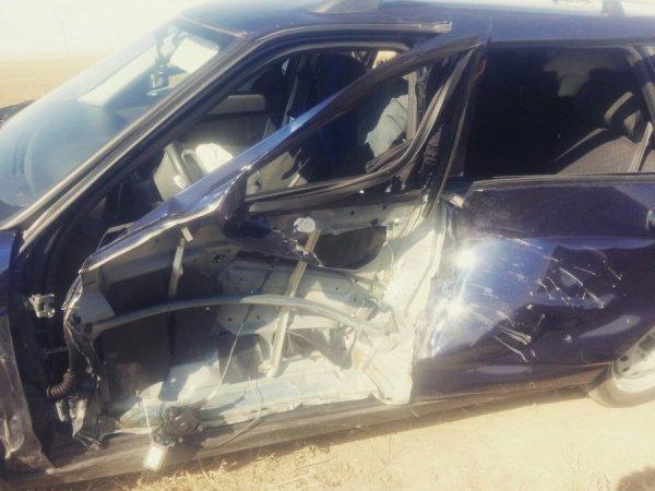 Отлетевшее от КАМАЗа колесо едва не убило водителя встречного авто в Башкирии