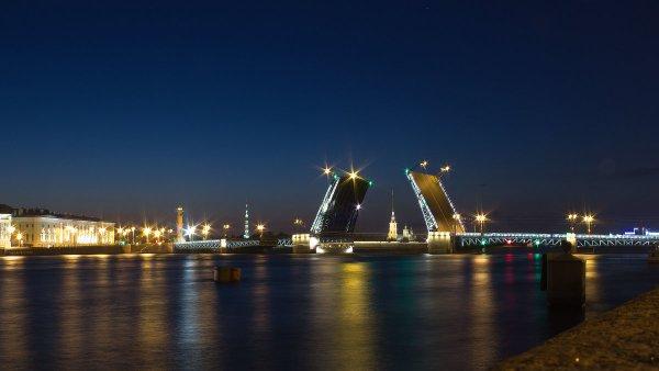 Француз едва не утонул в Неве у Дворцового моста  в Санкт-Петербурге