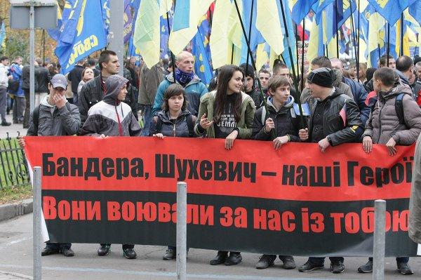 Консульство Украины в Польше разрисовали неизвестные злоумышленники