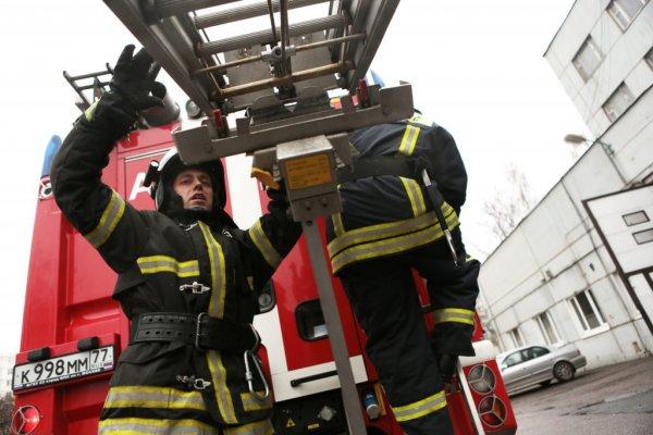 В результате пожара в кафе в центре Москвы пострадал человек
