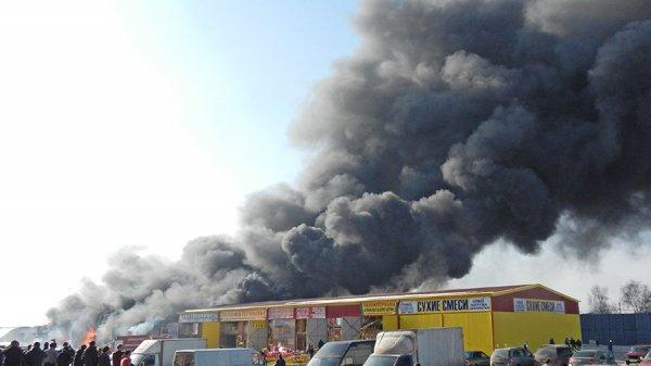 Площадь пожара на