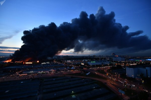 Пожар в Чехове в ТЦ «Перспектива» ликвидирован