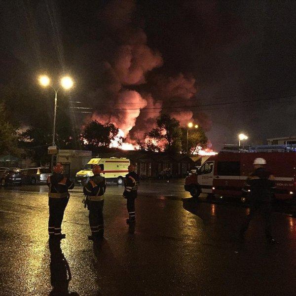 Пожар на текстильном складе в Москве полностью ликвидирован
