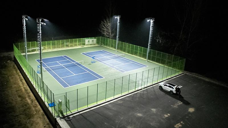 Организация освещения открытого теннисного корта