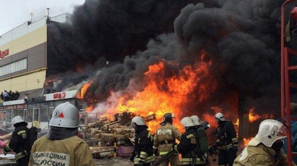 В торговом центре Сочи начался пожар