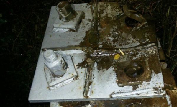 В Сети появились фото подорванного в Крыму газопровода