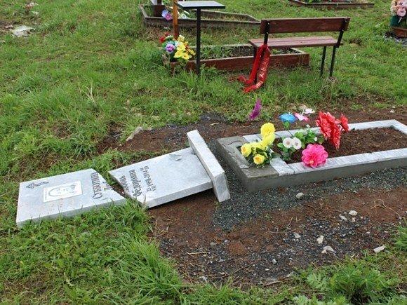 В результате нападения вандалов пострадали более 50 надгробий на Царском кладбище