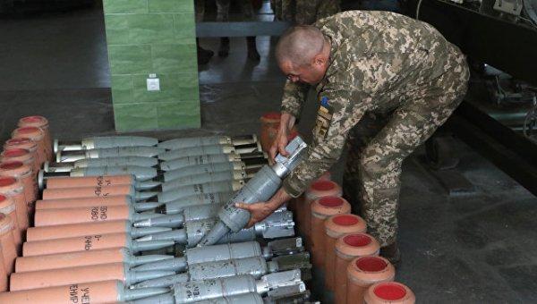ДНР оповестила о пожаре на складе оружия, принадлежащего ВС Украины
