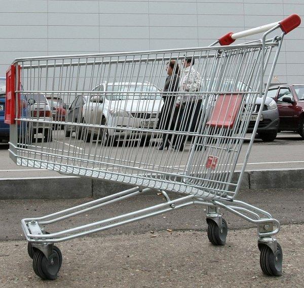 В Барнауле подростки угнали тележку из супермаркета