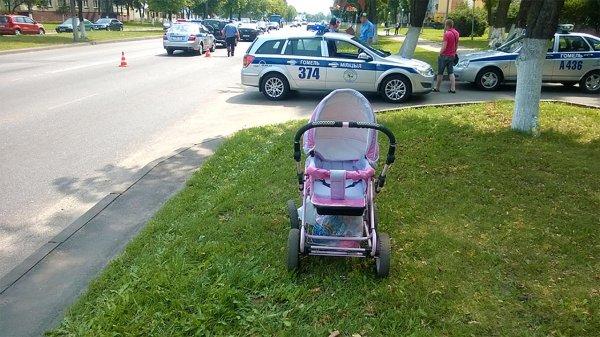 В Ростове маму с малышкой сбили на пешеходном переходе